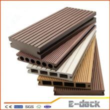 Hollow sólidos diseños impermeable laminado al aire libre WPC bordo para la construcción