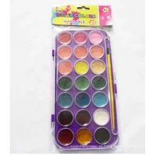 pintura diy con pincel pastel acuarela 12 colores