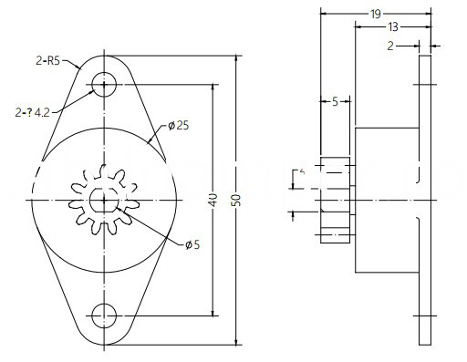 Gear Rotary Damper For Coffee Machine