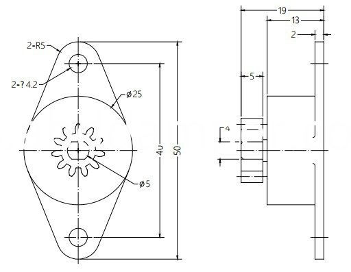 Damper Drawing For Small Household Appliance