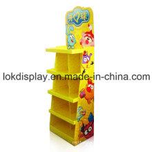 Papel al por menor Punto de venta Pantallas para juguetes, estantería de cartón