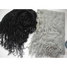 Bufanda tejida de la manera
