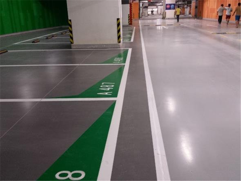 Epoxy floor coating for garage