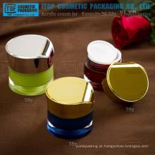 Série YJ-XC 30g 50g tambor forma redondo recipientes de acrílico decorativo da cintura