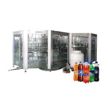 Linha de engarrafamento de refrigerantes carbonatados