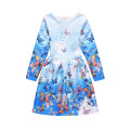 Children Latest Fashion Long Sleeve Kid Dress Design Girl Dress Of 9 Years Old For Winter Autumn Spring
