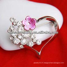 Bijoux à la mode en forme de coeur Bijouterie à broche coeur BH37