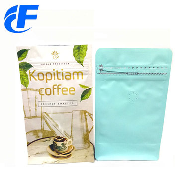High quality coffee flat bottom stand up bag