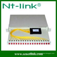 Rack diviseur de fibre optique 1x16 plc