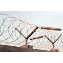 Clôtures de fil de fer barbelé concertina rasoir