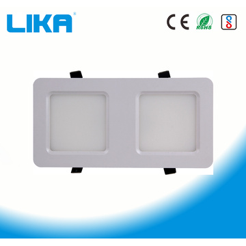 24W Panel de luz LED con rejilla de doble cabezal