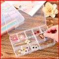10/15/24 Slots Adjustable Storage Box Plastic Case Home Organizer Jewelry Beads Boxes