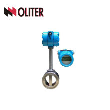 Medidor de fluxo de vórtice digital personalizado para medida de luqid de vapor com display