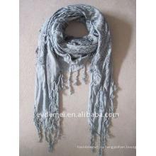 Квадратный плетеный шарф из пушмины и шаль 100%