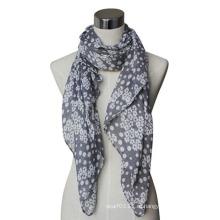 Леди хлопок/Лен вуаль напечатанный шарф вязаный (YKY4072)