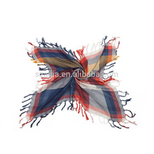 Fashion ladies 100 cotton square tassel scarf