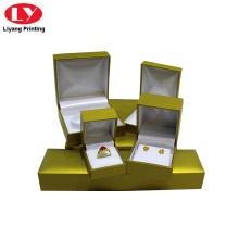 Boîte à bijoux de luxe à charnière avec logo personnalisé imprimé
