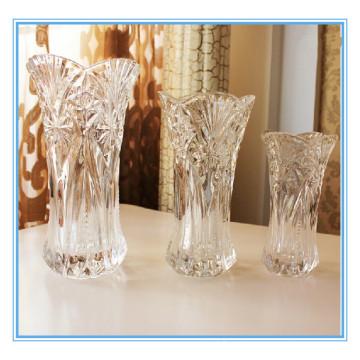 Florero cristalino de alta calidad de la decoración