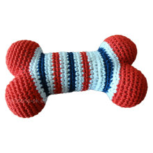 Colorful and Attractive Pet Crochet Toy Bone