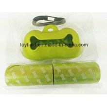 Saco de plástico saco de resíduos pet saco de poop perfumado cão
