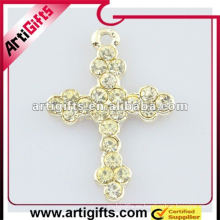 fashional crystal cross colgante
