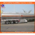 Adr DOT 3 Axle Stainless Steel 42000L Oil Tank Trailer Aluminum Alloy Fuel Tank Semi Trailer