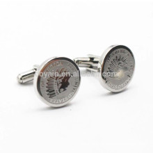 Round Shaped Metal United State of America Promotional Souvenir Cufflinks