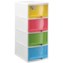 2015 Cheap Hot Sale Latest Big Storage Plastic Cabinet with 4 Drawers