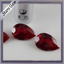 Forma Pera Venda Quente # 8 Corindo Vermelho Sintético Vermelho Sangue