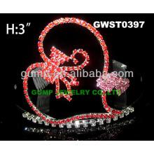 Сердце горный хрусталь тиара Корона -GWST0397
