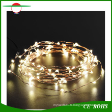 Arbres de Noël de déco paysage 100LED fil de cuivre solaire chaîne lumière avec blanc / blanc chaud / coloré LED Light pour en option