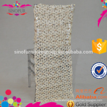2016 newest sequin flower elegant wedding chair back cover