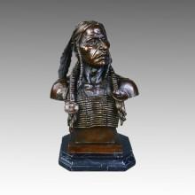 Busts Brass Statue Indian Decoration Bronze Sculpture Tpy-140