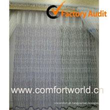Tela da cortina de organza bordado