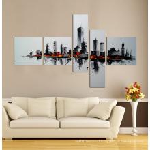 Framed Modern Canvas Wall Art 5 Panel