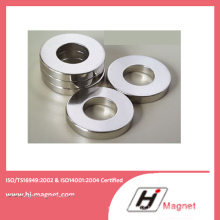 Venda quente promocional Super anel de NdFeB ímã N35m com alta qualidade, processo de fabricação
