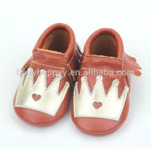 Los moccasins infantiles baratos vendedores calientes pattems lindos para los zapatos de bebé