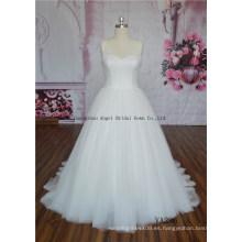 Rebordear en hombro con vestido de novia de Tulle Ball Gown