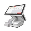 Restaurant Dual Display POS Monitor mit Drucker