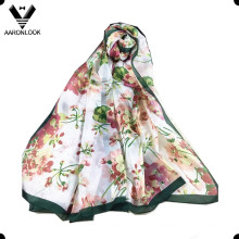 Lady′s High Grade Colorful Flower Famous Hangzhou Silk Scarf