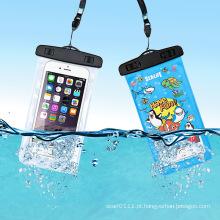 Caso de natação impermeável mobile phone móvel impressão pvc (yky7261)