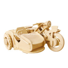 Бутик Бесцветные деревянные игрушки транспортных средств-Мотор трехколесный велосипед