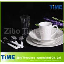 72ПК прекрасных королевских Белая керамика фарфор Набор посуды