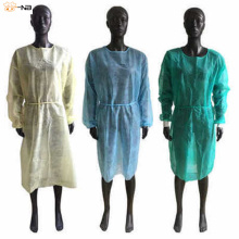 non-woven cheap SMS PP disposable isolation gown