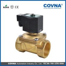 Прямой подъемный клапан соленоидного клапана поршня 2way 24 В нормально закрытый латунь 3/8 дюймовый электромагнитный клапан
