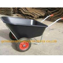 double wheel plastic tray wheelbarrow
