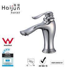 Haijun Cheap Watermark Brass Body Single Handle Bathroom Basin Sink Faucet