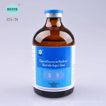 Injection efficace de volaille Chlorhydrate de Ciprofloxacine Injection