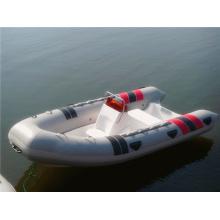 Rib 420 mais popular barco inflável branco com CE