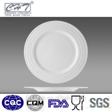 White round bone china porcelain food flat tray in different sizes